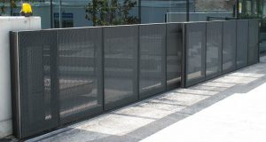 Secure fence and access gate located in San Marcos for commercial and business property