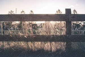 Wooden ranch fence in San Marcos